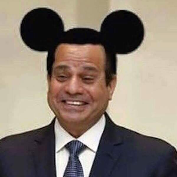 Egyptian Facebook user Amr Nohan was sentenced to three years in prison by a military court for adding Mickey Mouse ears to President Abdel Fattah El-Sisi's image.