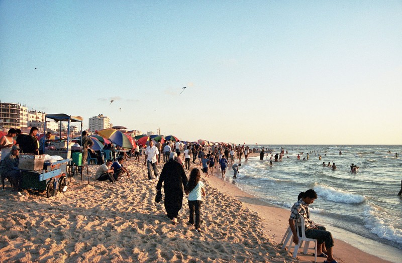 Gaza Beach. This work has been released into the public domain by its author, Gus, at Wikimedia Commons.