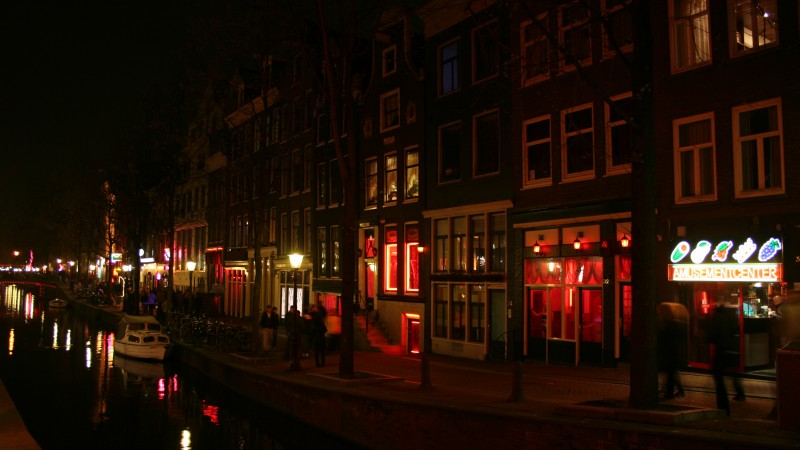 Tajikistan is turning the lights out on prostitution. Wikipedia image of Amsterdam's red light district. For representation purposes only.