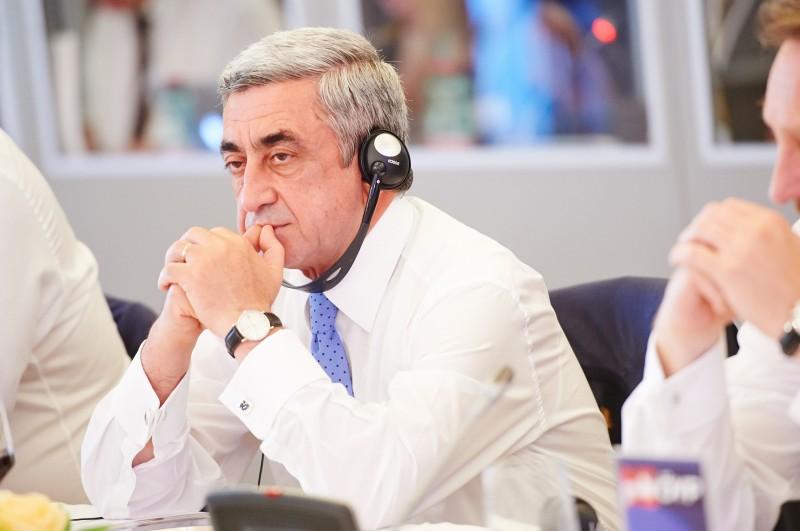 President Sargsyan. Wiki image.