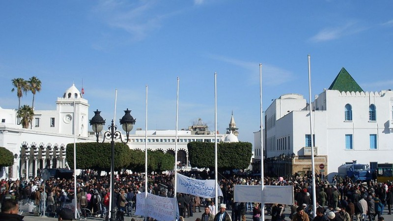 Peace protest in Tunis during the revolution in 2011 - CC-BY-20
