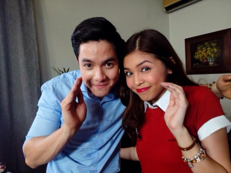 "Alden Richards and Maine ""Yaya Dub"" Mendoza. The tandem is known as Aldub. Photo from the Facebook page of Eat Bulaga"