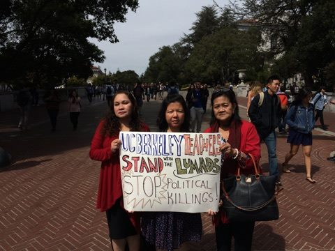 Filipino teachers in University of California Berkeley show support for the Lumad. Photo from the Facebook page of Joi Barrios-Leblanc