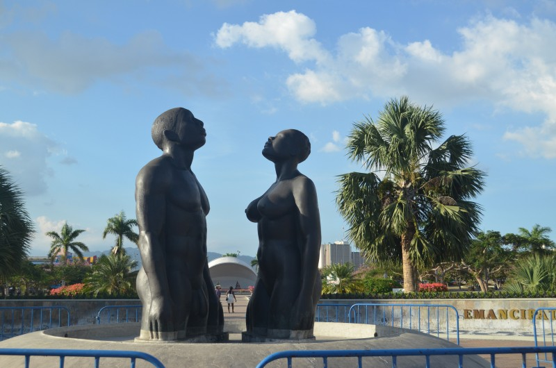 The sculpture at Emancipation Park in Kingston, Jamaica. Image by Kent MacElwee, used under a CC BY-NC-ND 2.0 license.