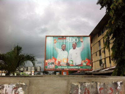 Election poster in Abidjan
