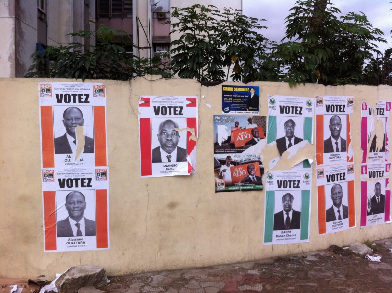 Election posters in Abidjan