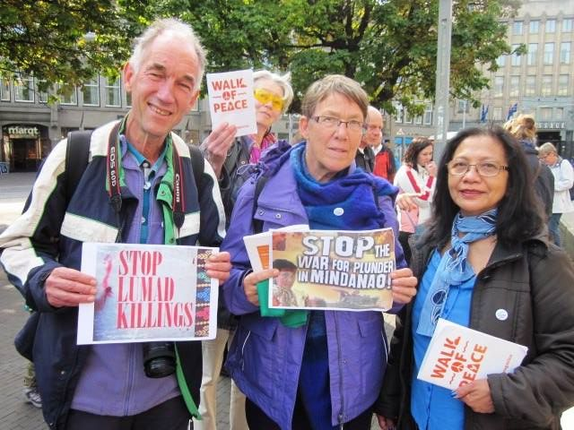 Activists in the Netherlands show support for the Lumad. Photo from the Facebook page of Marlon Toledo Lacsamana