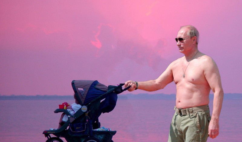 Daddy Vladimir. Image edited by Kevin Rothrock.