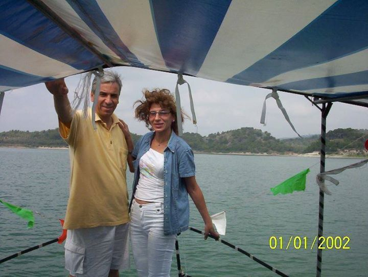 Yasin Al Haj Saleh and Sameera Al-Khalil, in happier times. Photo from Yasin Al Haj Saleh's Facebook page.