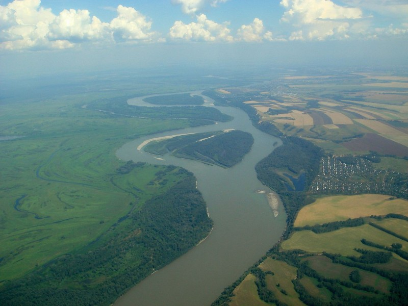 The Ob River. Photo by Ondřej Žváček. August 3, 2007. CC 2.5.