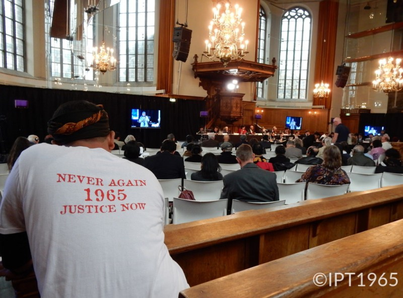 Opening day of the International People's Tribunal in The Hague about the 1965 mass killings in Indonesia. Photo from the Flickr page of the tribunal, CC License