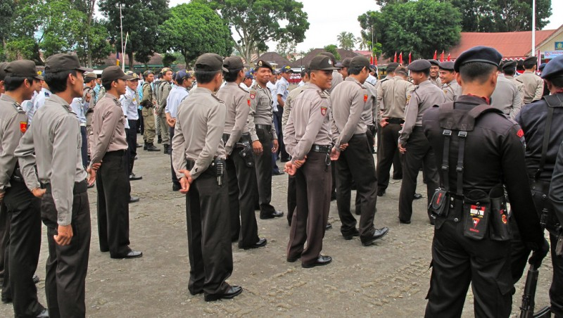 Indonesian police. Photo from Flickr page of Sbamueller. CC License.
