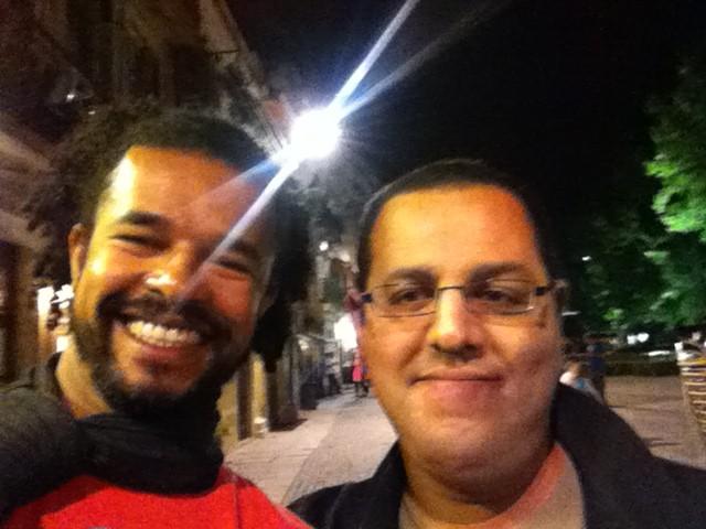 Luis Henrique and Hisham in Porto, Portugal.