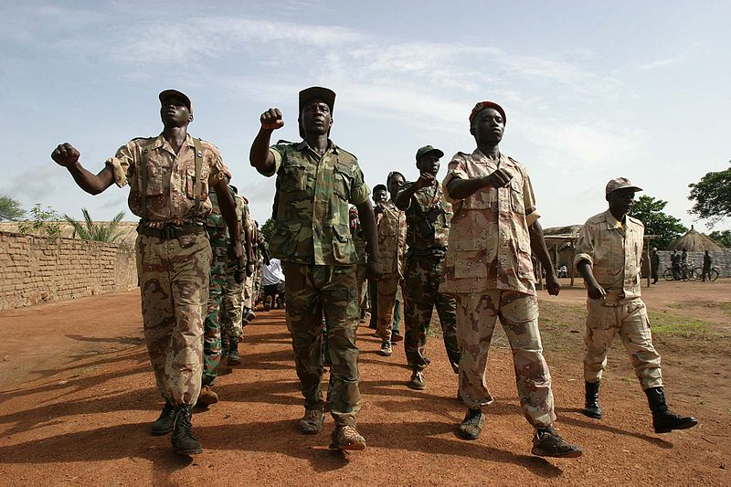 Rebels training in Central African Republic. Photo released under Creative Commons by Flickr user hdptcar.