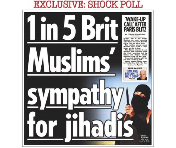 Снимок экрана. Британская организация Independent Press Standards получила 450 жалоб, касающихся первой страницы газеты The Sun.