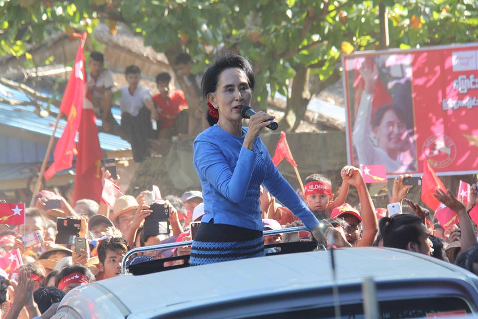 The opposition National League for Democracy secured a landslide victory in the recent election in Myanmar. It is headed by Aung San Suu Kyi, a former political prisoner. Photo from the Facebook page of the NLD