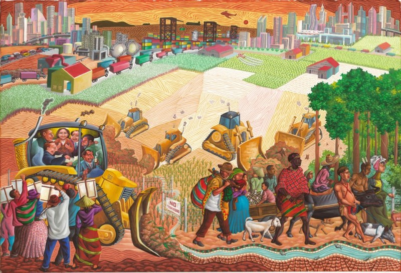 'Land Grab'. Federico Boyd Sulapas Dominguez uploaded this painting in time for the Asia-Pacific Economic Cooperation Summit which will be held in the Philippines.  Reposted with permission