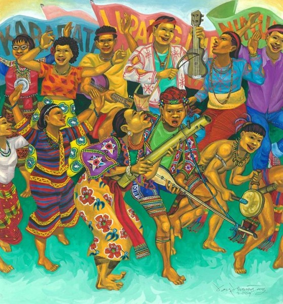 """Talabok"" is a Lumad Matigsalog term for social gathering or market day. Artwork by Federico Boyd Sulapas Dominguez reposted with permission"