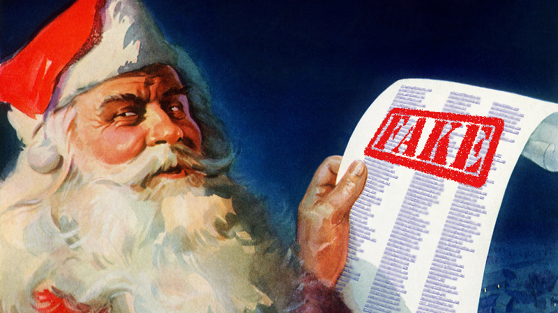 Ukrainian military warns: if you've been naughty and have been spreading rumors, Santa isn't coming by!