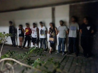 Students arrested by the Military Police. Photo by collective Passa Palavra.