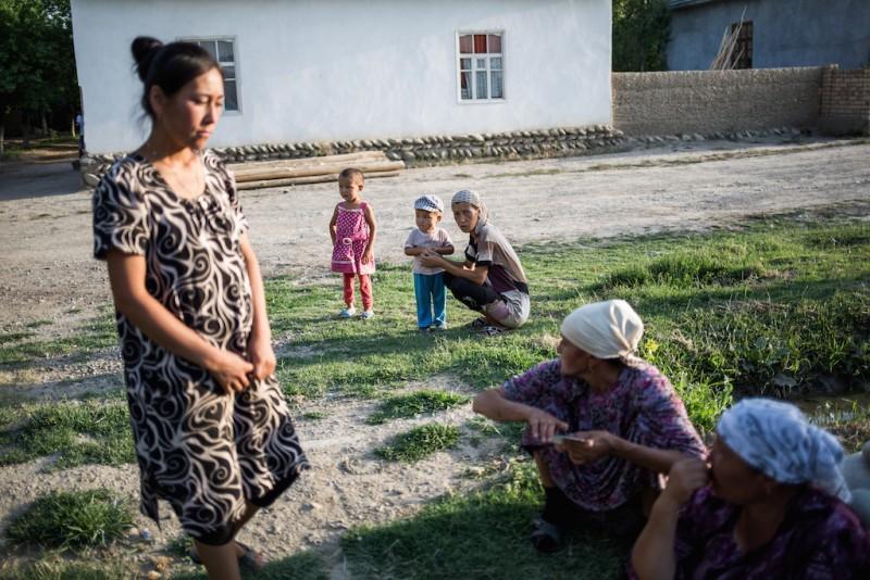 In Karabag village there are no men left, except for elderly men and children. Karabag village, Batken oblast.