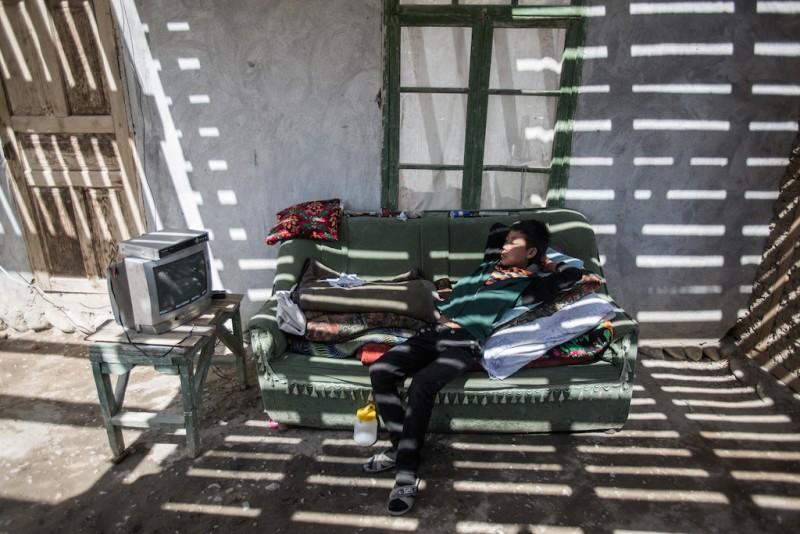 The son of a migrant worker. Karabag village, Batken oblast.