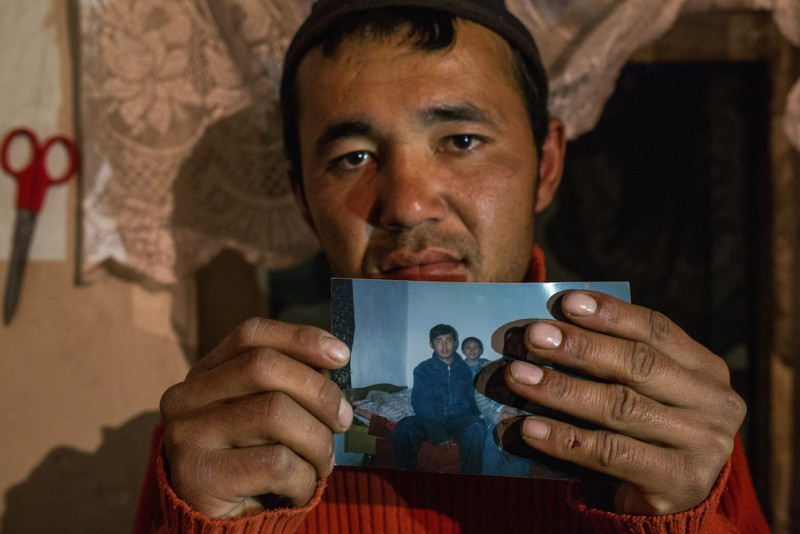 Anarbek, 27 years old, was effectively enslaved in Kazakhstan for nine years. He left Aravan at the age of 17. In Kazakhstan, he was forced to live in a tiny enclosed space and performed hard manual labor without any compensation. He was even sold several times to different individuals. His parents searched fruitlessly for him, and eventually feared that he was dead. Fortunately, Anarbek was eventually able to escape, literally running away from the last place of his indentured servitude. Aravan rayon, Osh oblast.