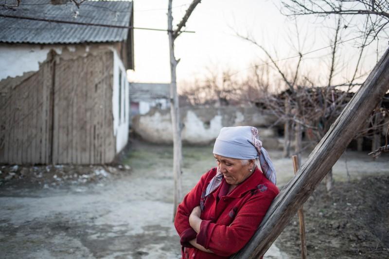 Anarbek's mother, 50 years old. Aravan rayon, Osh oblast.