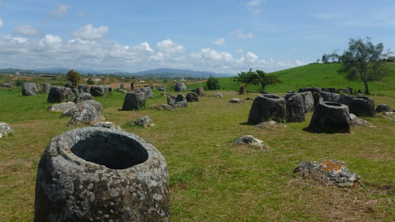 Plain of jars in north Laos. Photo from the Flickr page of damien_farrell (CC License)