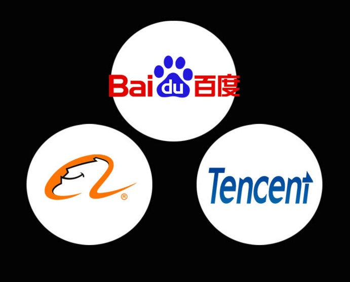 China's BAT internet giants. Photo: Hong Kong Free Press.