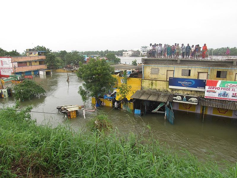 Chennai floods. Photo by Destination8infinity via Wikimedia. CC BY-SA 4.0