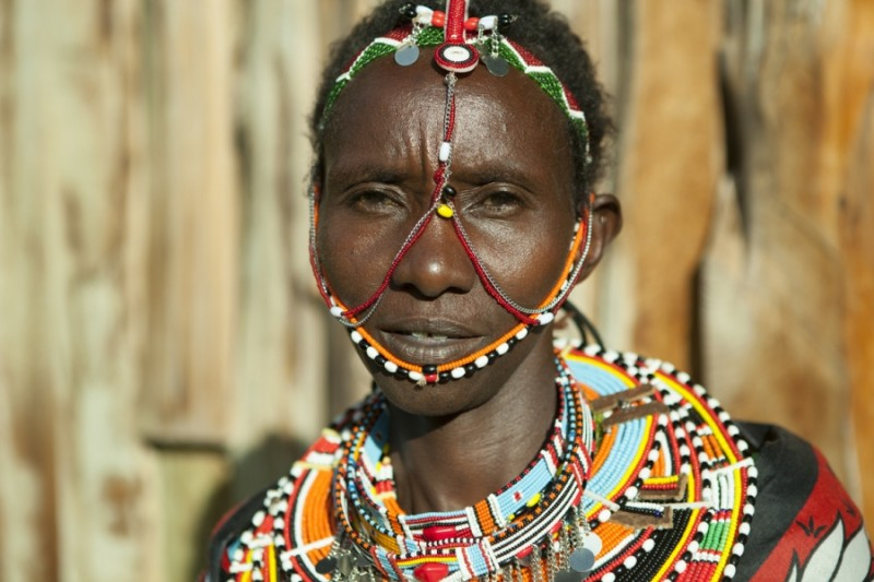 One of the 140 Maasai women who tend to 40 acres of aloe secundiflora at the Twala Cultural Manyatta in Laikipia. Credit: Anne Bailey. Used with permission