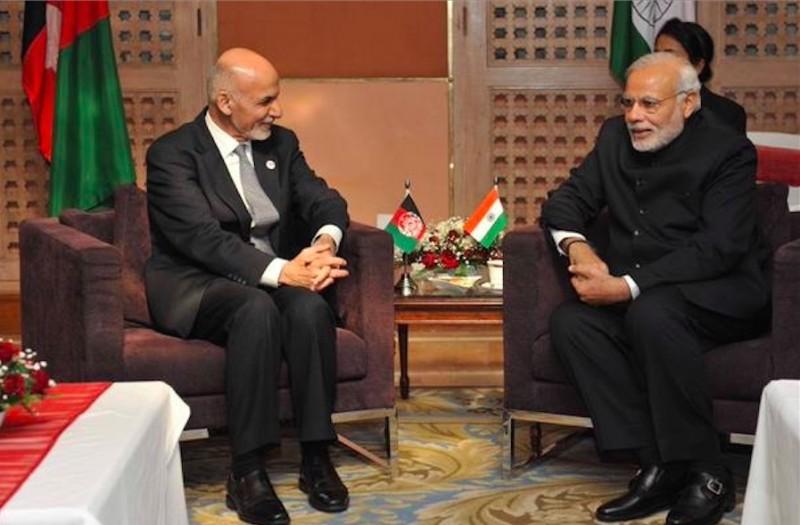 Afghan President Ashraf Ghani and Indian Prime Minister Narendra Modi.