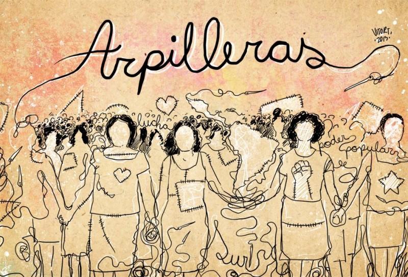 Kunst des brasilianischen Karikaturisten Vitor für das Arpilleras-Projekt. Bild: Arpilleras: Bordando a resistência/Facebook.