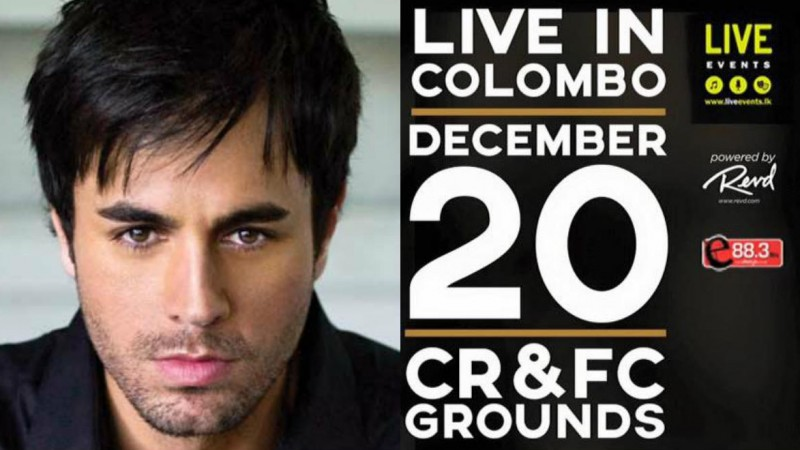 Poster for Enrique Iglesias's concert
