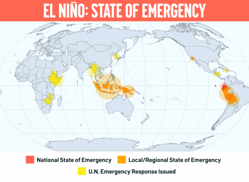 Map show the extent of regions in distress (December 2015). © 350.org