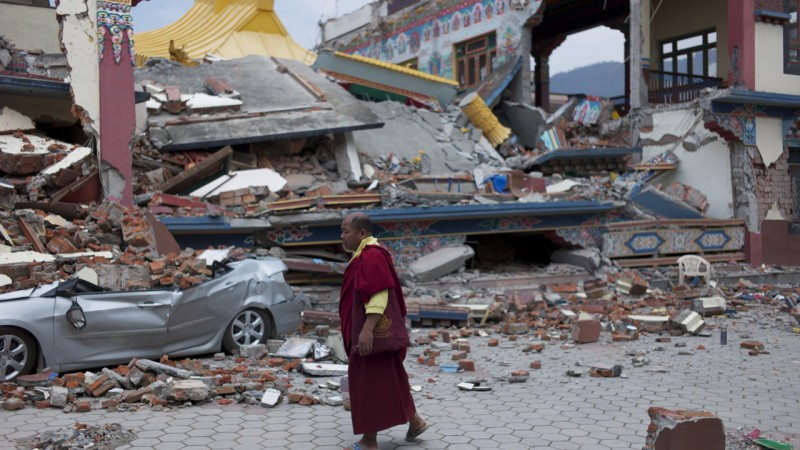 Earthquake hits Kathmandu, Nepal. April 2015, © Jean Paul Delain/MSF An year in Picture. Used with permission