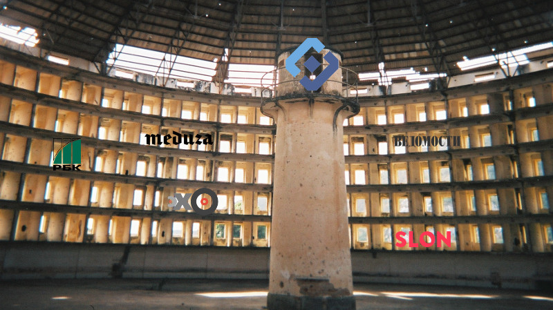 Akin to Foucault's panopticon, Russian censors are now monitoring online media for forbidden content using an automated system. Images mixed by Tetyana Lokot.