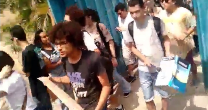 Students occupied the José Carlos Almeida school in Goiás state. Screenshot of video published on Facebook by Não fechem minha escola.