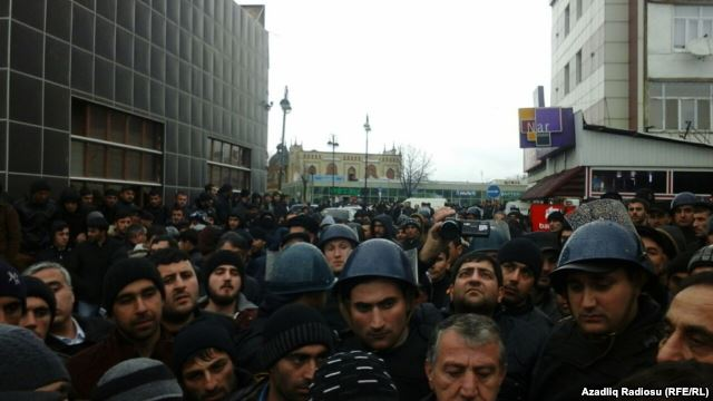 Protest in Guba, Azerbaijan. Photo by Azeri Service of the RFE/RL