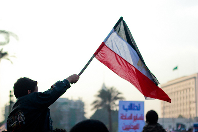 Tomorrow is the fifth anniversary of the start of the Egyptian revolution. Photograph from a protest in Tahrir in 2012. By Mosa'ab El Shamy, flickr, used with permission.