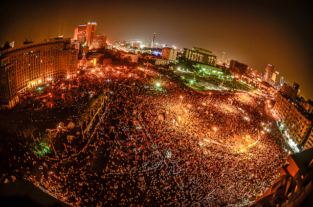 A protest in Tahrir Square in June 2012. Photograph by Mosa'ab Elshamy from his flickr account. Used under (CC BY-NC-SA 2.0)