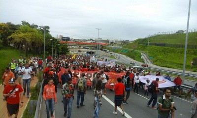 MTST demonstration in Itaquera. Photo from the MTST profile on Facebook