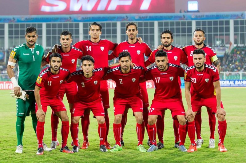 Afghanistan's national football team. Shared by the Afghan Football Federation via the federation's official Facebook group.