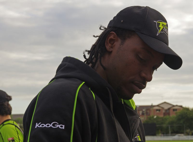 Cricketer Chris Gayle; photo by NAPARAZZI, used under a CC BY-SA 2.0 license.