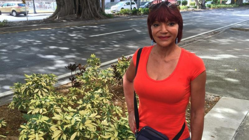 Ana Marrero, a transgender woman, says she was repeatedly thrown in prison in Cuba for wearing makeup and women's clothing. Credit: Tim Padgett/WLRN. Used with PRI's permission