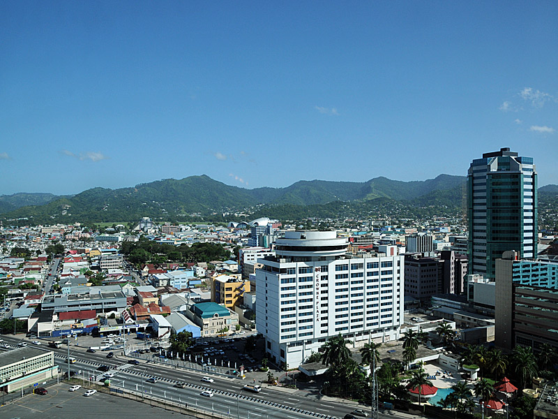 Port of Spain, Trinidad and Tobago's dense capital city. Photo by Downing Street, used under a CC BY-NC-ND 2.0 license.
