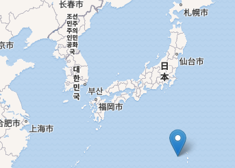Location of Nishinoshima Island. Image from <a href=