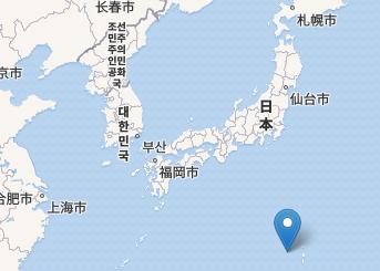 Location of Nishinoshima Island. Image from <a href=
