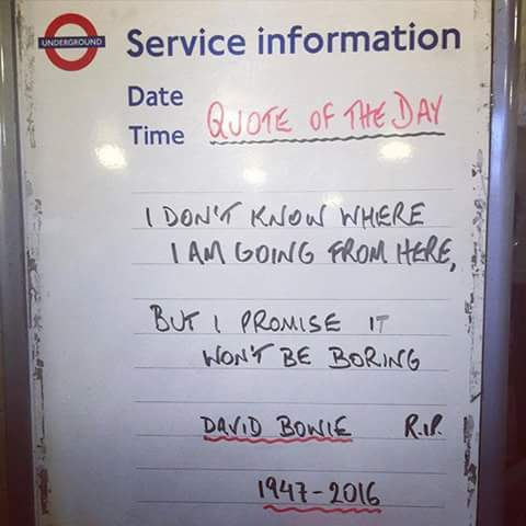 A sign at one of London's tube stations; widely shared on Facebook.